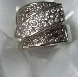 Faux Silver & Diamond Ring